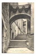 Cp, 50, Le Mont Saint-Michel, Abbaye, Grands Degrès Et Le Pont Fortifiés - Le Mont Saint Michel