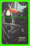 TÉLÉCARTES, THAILANDE -  BIRDS, TOTO TOUCAN - RAMPHASTOS TOCO - 300 BAHT - PHONECARDS - AUGUST/2004 - - Oiseaux