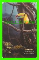 TÉLÉCARTES, THAILANDE -  BIRDS, SULPHUR-BREASTED TOUCAN - RAMPHASTOS SULFURATUS - 300 BAHT - PHONECARDS - AUGUST/2004 - - Oiseaux