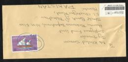 Oman Registered  Postal Used Cover Oman To Pakistan Ships Ship Stamp - Oman