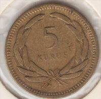 @Y@  Turkije   5  Kurus  1950    (item 2438) - Turkije
