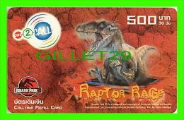TÉLÉCARTES, THAILANDE - CINÉMA - FILM, JURASSIK PARK - RAPTOR RAGE - 500 BAHT - PHONECARDS - JUNE/2003 - - Cinéma