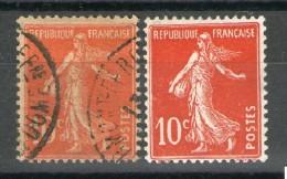 Belles Nuances N° 138 IA°/*_rouge-orange-papier GC°_rouge VIF Sur Papier Blanc* - 1906-38 Säerin, Untergrund Glatt