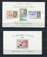 Liberia 1961 (2) Sheet MNH Imperf. - Liberia
