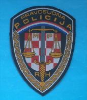 CROATIAN PRISON GUARDS Patch  * Ecusson Gardiens De Prison Gefängniswärter Guardia Carcerarie Police Polizei Polizia - Scudetti In Tela