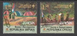 Bosnia Serbia 2007 Europa CEPT, Scouts, Scouting, Set From Mini Sheet MNH - 2007