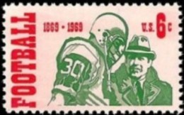 1969 USA Football Stamp Sc#1382 Rugby - Rugby