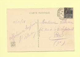 Exposition Coloniale - 4-10-1931 - Sur Timbre Et Carte De L Exposition - Poststempel (Briefe)