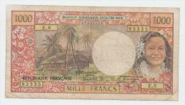 Tahiti PAPEETE 1000 Francs 1985 AVF Banknote P 27d - Papeete (French Polynesia 1914-1985)