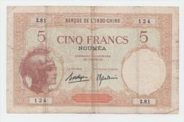 New Caledonia Noumea 5 Francs 1926 AVF P 36b 36 B - Nouvelle-Calédonie 1873-1985