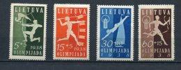 Lithuania 1938 Mi 417-0 MNH (1 Stamp Is MH) Cv 50 Euro - Lithuania