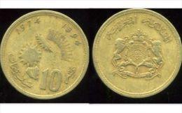 MAROC  10 Santimat 1394 - 1974 - Marruecos