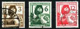 3. REICH 1937 Nr 643-645 Gestempelt 5CEA42 - Gebruikt