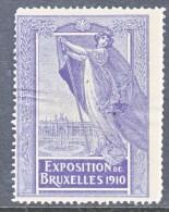 Belgium  EXPOSITION  De  BRUXELLES  1910   * - Commemorative Labels