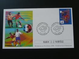FDC Lettre Cover Coupe Du Monde Football World Cup 1998 Maroc Norvège Norway 10/06/1998 - Coppa Del Mondo