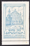 Belgium  EXPOSITION  GAND    1913   ** - Commemorative Labels