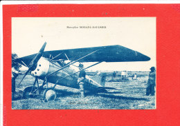 AVION MORANE SAULNIER  Cpa Animée - Avions