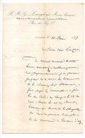 Langloys Avoué Licencié - Défenseur Au Tribunal De Commerce, Rue De Foy, St Etienne - 1872 - Manoscritti