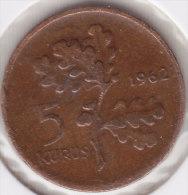 @Y@  Turkije   5  Kurus  1962    (item 2441) - Turquie