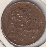 @Y@  Turkije   5  Kurus  1963    (item 2442) - Turkije