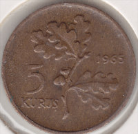 @Y@  Turkije   5  Kurus  1965    (item 2444) - Turkije