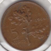 @Y@  Turkije   5  Kurus  1966    (item 2445) - Turquie
