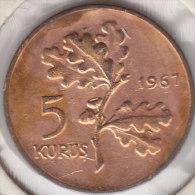 @Y@  Turkije   5  Kurus  1967    (item 2446) - Turquie