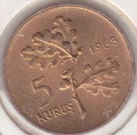 @Y@  Turkije   5  Kurus  1968    (item 2447)   AUNC - Turkije