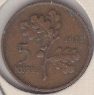 @Y@  Turkije   5  Kurus  1970    (item 2448) - Turkije