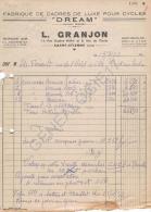 42 1279 SAINT ETIENNE LOIRE 1953 Manufacture De Cadres Luxe Cycles MARIUS GRANJON Marque DREAM Rue Eugene Muller & E - Automobile