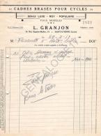 42 1280 SAINT ETIENNE LOIRE 1957 Manufacture De Cadres Pour Cycles L. GRANJON Marque LUXE ROY & POPULAIRE - Automobile