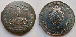 3 Euro Temporaire Precurseur De ST. DONAT  1996, RRRR, UNC, Nickel, Nr. 627, Only 1000 Ex.! - Euro Der Städte