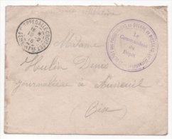 Lot 833: Lettre Avec Grand Cachet Dépôt Des Prisonniers De Guerre 14/18 Du Camp De Biessard Du 19.02.1916 - Marcofilia (sobres)