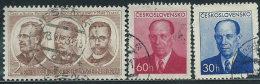 Cecoslovacchia 1953 Usato - Mi.796;814/5  Yv.705;716/7 - Cecoslovacchia