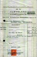 CLEVELAND COMPONENTS - Ann0 1946 - Regno Unito