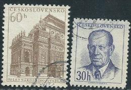 Cecoslovacchia 1953 Usato - Mi.816;834  Yv.720;738 - Cecoslovacchia