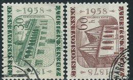 Cecoslovacchia 1958 Usato - Mi.1063/4  Yv.947/8 - Cecoslovacchia