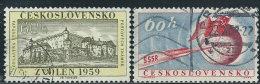Cecoslovacchia 1959 Usato - Mi.1139;1152  Yv.1024;1042 - Cecoslovacchia