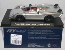 - FLY - Voiture De Circuit  FERRARI 512 S Coda Lunga édition Silver- 1/32° -  Réf 88118 - - Road Racing Sets