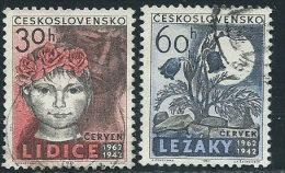 Cecoslovacchia 1962 Usato - Mi.1346/7  Yv.1220/1 - Cecoslovacchia