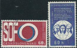 Cecoslovacchia 1965 Usato - Mi.1551/2  Yv.1417/8 - Cecoslovacchia