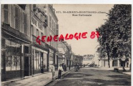18 - SAINT AMAND MONTROND - RUE NATIONALE - ANDRE RABY - COIFFEUR - Saint-Amand-Montrond