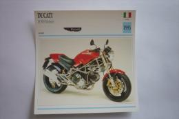 Transports - Sports Moto - Carte Fiche Technique Moto ( Ducati M 900 Monster - Sport -1993 ( Description Au Dos - Motorradsport