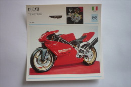 Transports - Sports Moto - Carte Fiche Technique Moto ( Ducati 550 Super Mono - Course -1993 ( Description Au Dos - Motorradsport