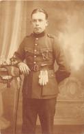 Carte Photo - Portrait Militaire Belge - Uniformes