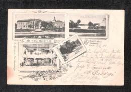 Gruss Aus Elbenau HAMELS GASTHOF USED G KLINGNER PHOT MAGDEBURG - Schoenebeck (Elbe)