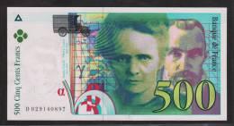500 Francs Pierre et Marie Curie 1994 Sans Strap Fayette 76 Quarto /1 - NEUF/UNC -