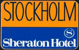SWEDEN - STOCKHOLM SHERATON HOTEL - STICKER / AUTOCOLLANT - Hotel Labels