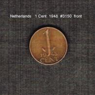 NETHERLANDS     1  CENT  1948  (KM # 175) - [ 3] 1815-… : Kingdom Of The Netherlands