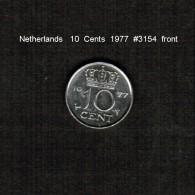 NETHERLANDS    10  CENTS  1977  (KM # 182) - [ 3] 1815-… : Kingdom Of The Netherlands